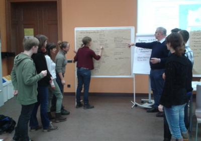 """Lehrveranstaltung des Masterstudiengangs """"Regionalentwicklung und Naturschutz"""" an der Hochschule für Nachhaltige Entwicklung (HNE) Eberswalde"""