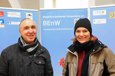 Vereinsmitglieder Angelo Koci und Verena Michalek