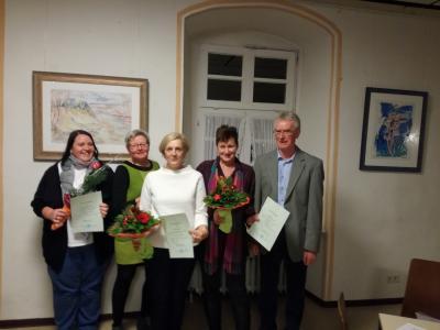Foto zur Meldung: Caritas ehrt Jubilare