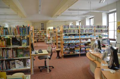Bibliothek von innen