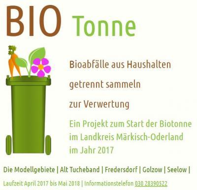 Biotonne in Alt Tucheband und Golzow