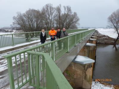Bauabnahme Brücke in der Garbe, Ortslage Aulosen