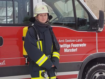 Vorschaubild zur Meldung: Herzlichen Glückwunsch an die Kameradin, Corinna Effenberg, der Feuerwehr Marxdorf!