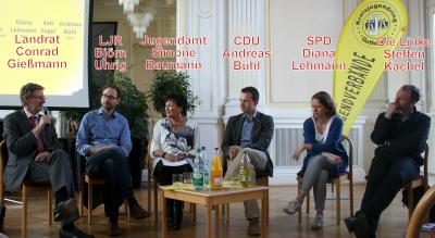Vorschaubild zur Meldung: Podiumsdiskussion mit Landtagsabgeordneten zu Fragen der Jugendarbeit