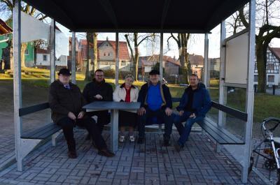 (v.l.Klaus Hesse, Erik Thürmer, Waltraud Ebert, Ewald Mittelsdorf, Matthias  Neundorf)
