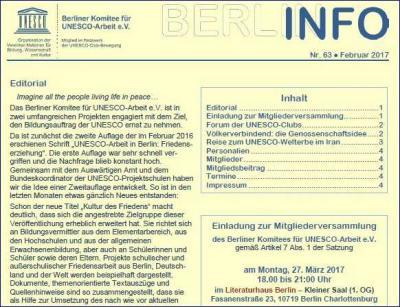 Vorschaubild zur Meldung: BERLIN INFO Nr. 63 erschienen