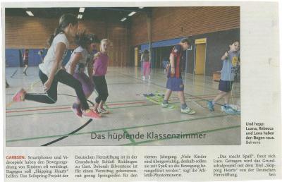 Vorschaubild zur Meldung: Leine-Zeitung: Das hüpfende Klassenzimmer