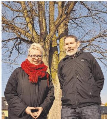 Foto zur Meldung: Groß Laasch - Verletzter Baum wird Kunstwerk