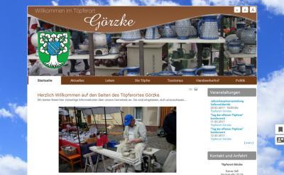 Webseite Görzke