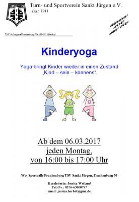 Foto zur Meldung: Neu beim TSV: Kinderyoga!