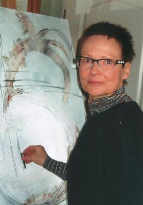 Vorschaubild zur Meldung: Neue Ausstellung im Amtsgebäude: Gabriele Fink zeigt Bilder voller Gefühl
