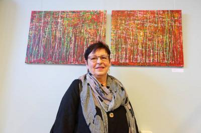 Vorschaubild zur Meldung: Werke der Altlandsberger Künstlerin Angelika Bunke in der Rathaus Galerie