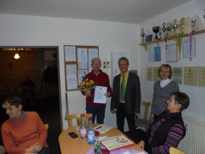 Verleihung der Ehrenmitgliedschaft an Peter Wischinsky