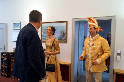 Foto zur Meldung: Bürgermeister empfängt den NCC
