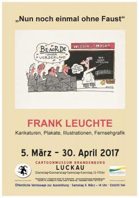 Plakat zur Ausstellung - Motiv von Frank Leuchte