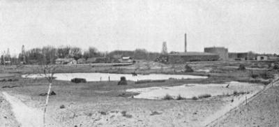 Älteste Fotografie der Wallmannschen Teerkuhle von 1903