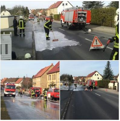 Vorschaubild zur Meldung: Ölspur nach Verkehrsunfall
