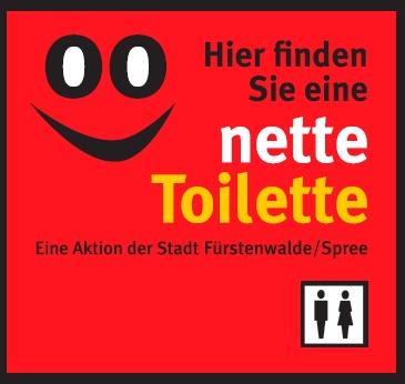 """Vorschaubild zur Meldung: Fürstenwalde macht mit bei """"Nette Toilette"""""""