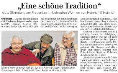 Vorschaubild zur Meldung: Frauentagsfete im Haus Heinrich