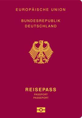 Cover des neuen Reisepasses