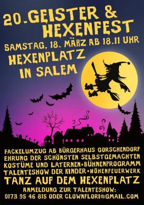 Foto zur Meldung: 20. Salemer Geister- und Hexenfest