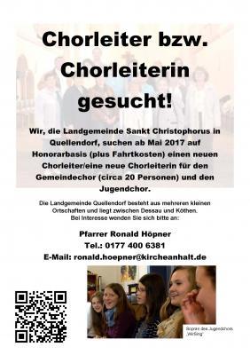 Vorschaubild zur Meldung: Wir suchen dringend neue/n Chorleiter/in