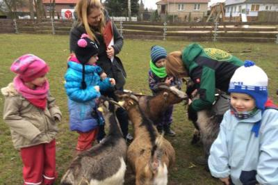 Foto zur Meldung: Kooperation zwischen der Naturkita Sievertshagen und dem Tierpark Grimmen