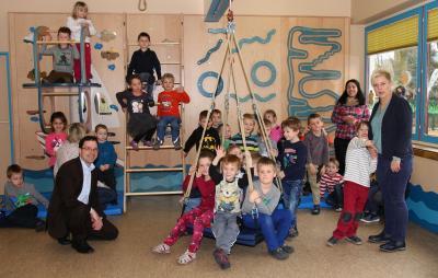 Vorschaubild zur Meldung: Neue Bewegungslandschaft im Kindergarten Magdlos