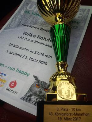 Vorschaubild zur Meldung: Wilke Rohde in Bensberg Dritter über 10km