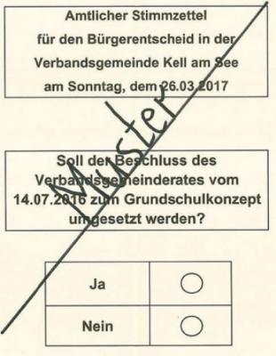 Foto zur Meldung: Endergebnis Bürgerentscheid Grundschulkonzept