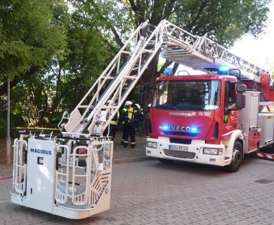 Foto zur Meldung: Brandbekämpfung - Küchenbrand