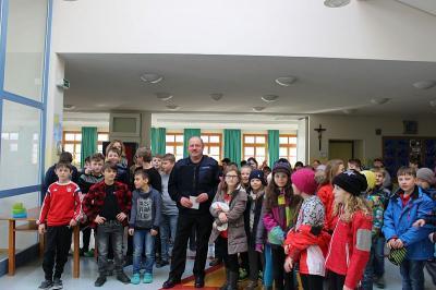 Foto zur Meldung: Feueralarm in der Grundschule