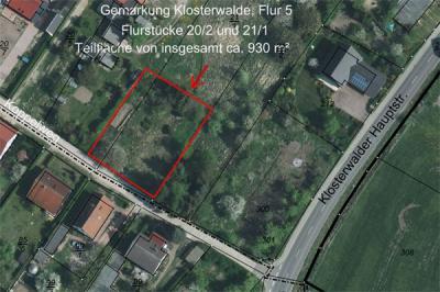 Vorschaubild zur Meldung: Ausschreibung - Grundstück in Klosterwalde