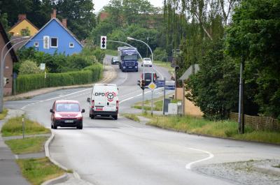 Die Ortsdurchfahrt in Ribbeck wird bis August 2018 erneuert.