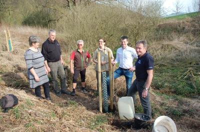 Foto zur Meldung: Gemeinderat pflanzt Schwarzpappel