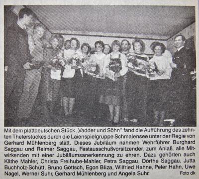 Foto zur Meldung: Vor 30 Jahren: Zehnmal Theater unter Gerhard Mühlenberg