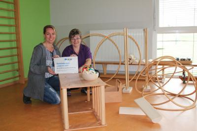 Foto zu Meldung: Förderverein der Kita unterstützt die erfolgreiche Teilnahme am Pikler-Projekt