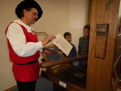 Foto zur Meldung: Gutenbergpresse