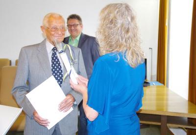Vorschaubild zur Meldung: Empfang zum 95. Geburtstag von Altbürgermeister Heinz Wellhöfer