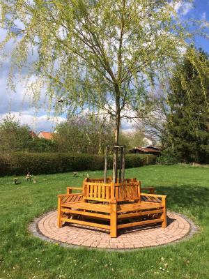 Vorschaubild zur Meldung: Neue Baumbank am Merzhäuser Friedhof