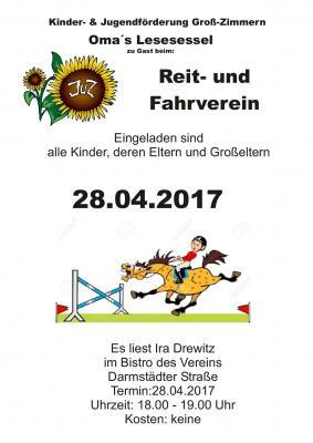 Plakat Lesesessel April 2017