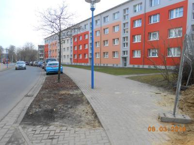 Reinheimer Straße während der Bauarbeiten 2016