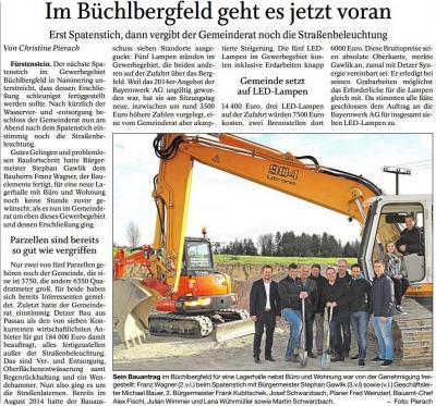 Vorschaubild zur Meldung: Im GE Büchlbergfeld geht es jetzt voran