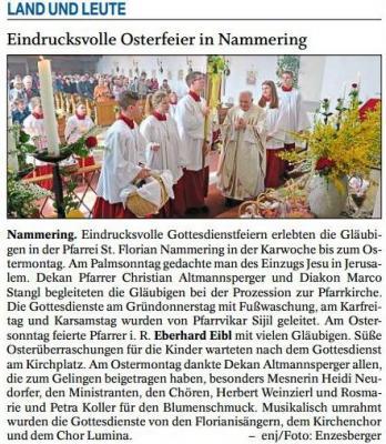 Vorschaubild zur Meldung: Osterfeier in Nammering