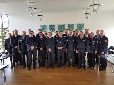 Die Mitglieder des Gemeindekommandos