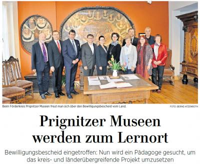 Foto zur Meldung: Wegemuseum beteiligt sich am Projekt der Prignitzer Museen