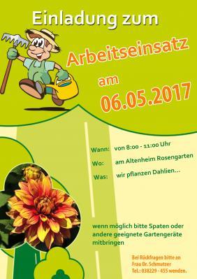 Vorschaubild zur Meldung: Wir pflanzen Dahlien - Arbeitseinsatz Rosengarten
