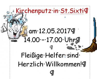 Vorschaubild zur Meldung: Am 12. Mai > Kirchenputz in St. Sixti