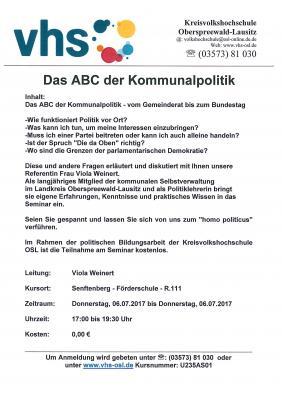 Vorschaubild zur Meldung: Das ABC der Kommunalpolitik