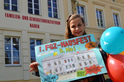 FGZ-Leiterin Annett Lahn lädt herzlich zum Hausfest ein.